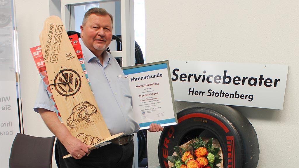 Martin Stoltenberg war über 34 Jahre bei Autohaus Goss beschäftigt
